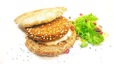 hamburguesa con salsa arabe