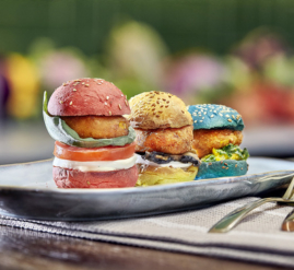 mini burgers vegetarianas