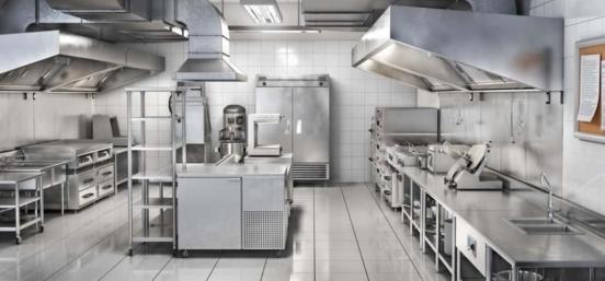 desinfectar la cocina de un restaurante
