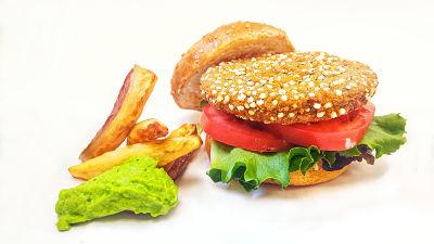 hamburguesa con guacamole sin carne